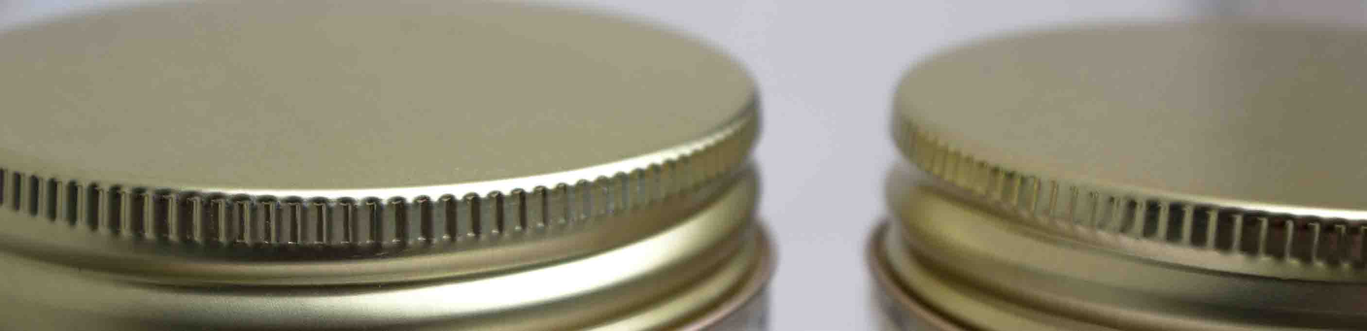 Metal Lids for Candle Jars - 400 - Silver