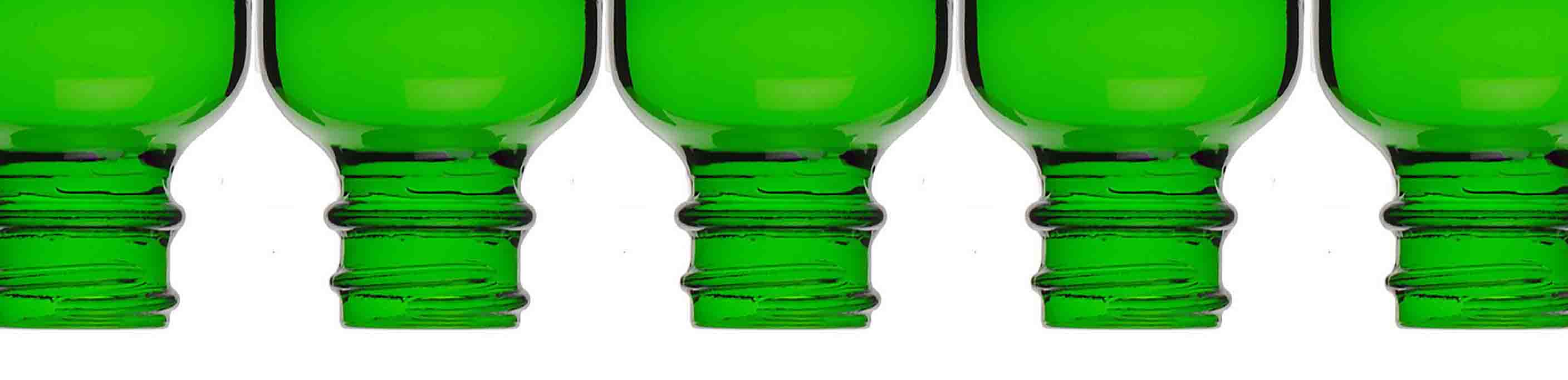 Green Glass Bottles for Essential Oils