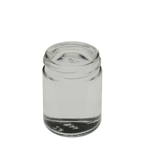 1.25oz (37ml) Flint (Clear) Cream Round Glass Jar - 38-400 Neck
