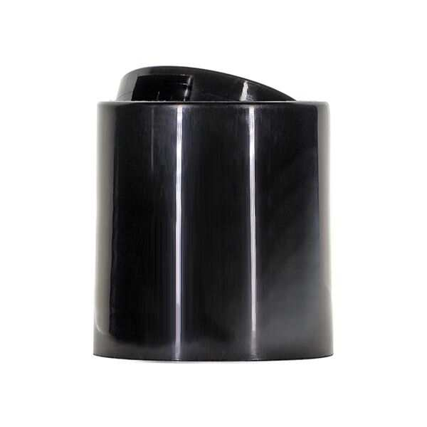 20-410 Black Smooth-Side PP Disc Top Closure - 5.0mm Orifice