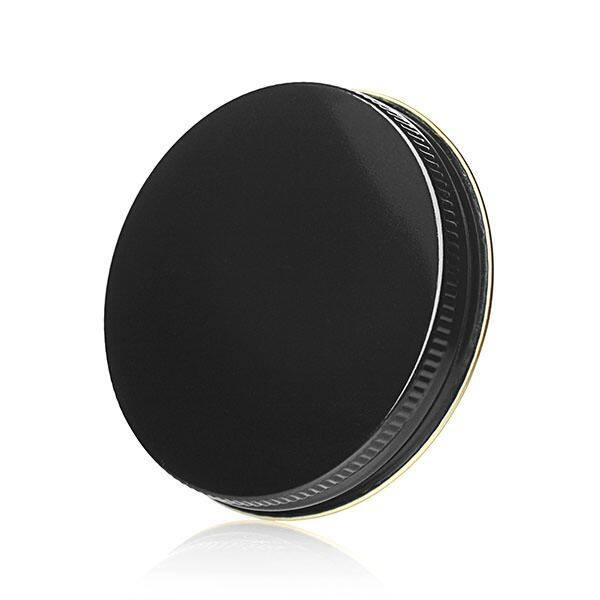 70-400 Black Threads and Knurled Edge Metal Screw Cap - No Liner (Gold Bottom)