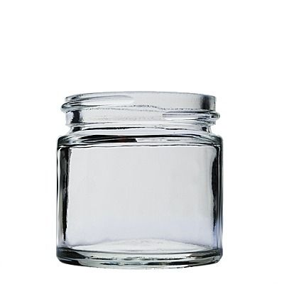 1oz (30ml) Flint (Clear) Straight-Sided Cream Glass Round Jar - 43-400 Neck