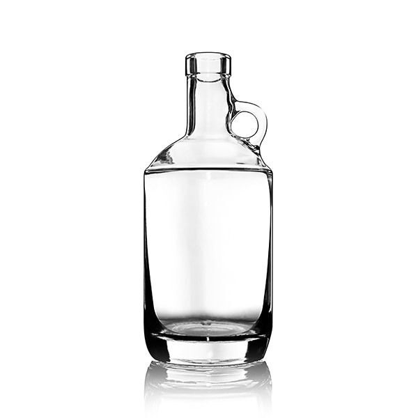 750ml (25.4oz) Flint (Clear) Moonshine Spirits Glass Bottle Round - 21.5mm Neck