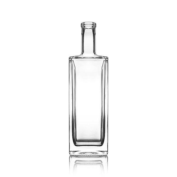 750ml (25.4oz) Flint (Clear) Glass Liberty Spirits Bar Top - 21.5mm Neck
