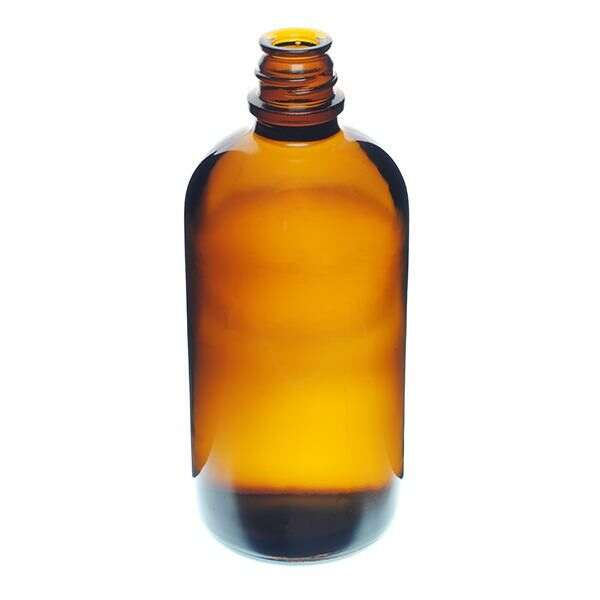 16oz (480ml) Amber Glass Pour Out Round - 28-430 Neck