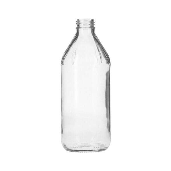 16oz (473ml) Flint (Clear) Glass Vinegar Bottle Round - 28-454 Neck