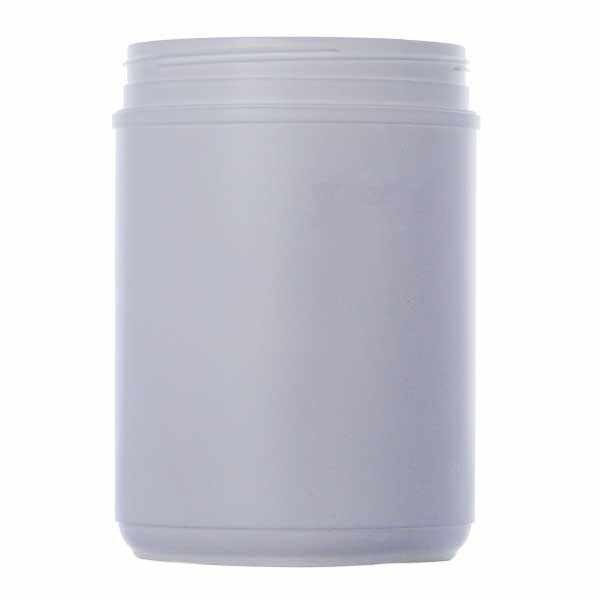 120oz (3600ml) White HDPE Canister Round Plastic Jar - 120mm Neck