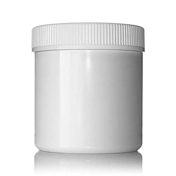 8oz (240ml) White PET Wide Mouth Straight-Sided  Jar - 70-400 Neck