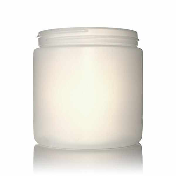 16oz (473ml) Natural HDPE Wide-Mouth Jar - 89-400 Neck
