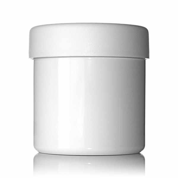 4oz (120ml) White PET Wide Mouth Straight-Sided Jar - 58-400 Neck