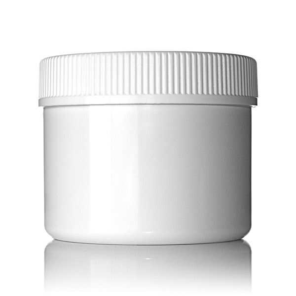 6oz (180ml) White PET Wide Mouth Straight-Sided Jar - 70-400 Neck