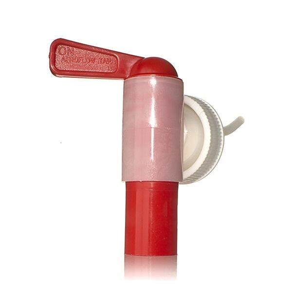 38-400 Red and Natural Smooth Side PP Aeroflow Self-Venting Tap - 18mm Nozzle