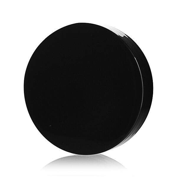58-400 Black Smooth Side Smooth Top Plastic Screw Cap - Foam Liner