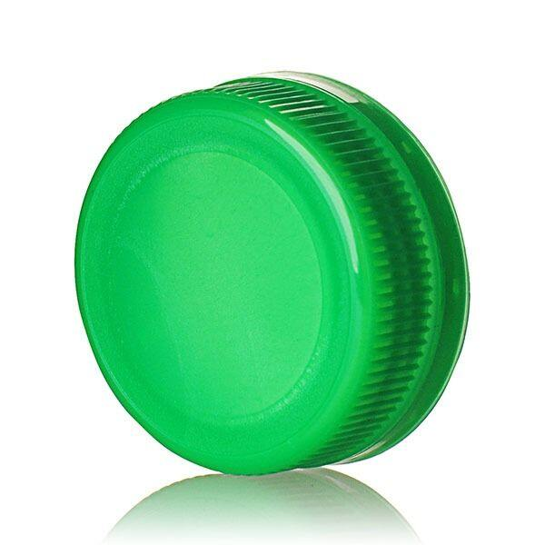 38-385 Green DBJ Rib Side Matte Top Drop Band Plug Seal Tamper Evident Cap