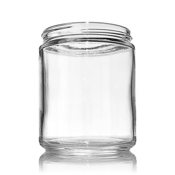 16oz (480ml) Flint (Clear) Cream Round Glass Jar - 89-400 Neck