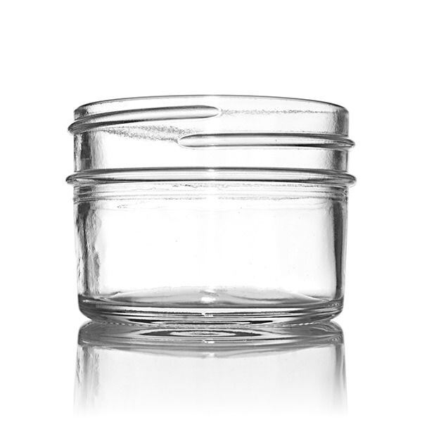 4oz (120ml) Flint (Clear) Glass Jelly Jam Round Glass Jar - 70-450 Neck