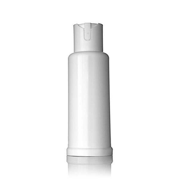 2oz White PP Child Resistant / Button Lock Cannabis Spray Pump With Tear-Off Tab
