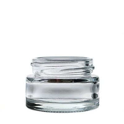 15cc (0.5oz) Flint (Clear) Minereva Round Glass Jar - 40-400 Neck
