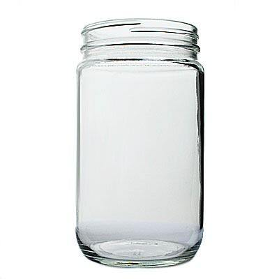 32oz (960ml) Flint (Clear) Cream Round Glass Jar - 89-400 Neck