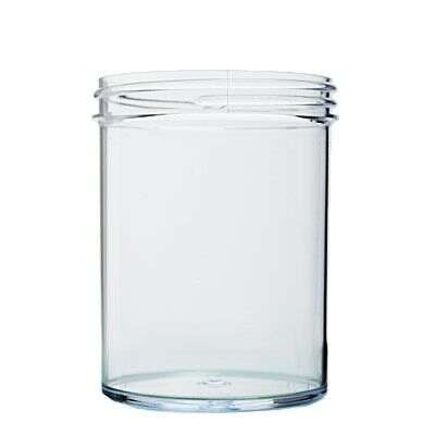 8oz (240ml) Clear PS Straight-Sided Round Plastic Jar - 70-400 Neck