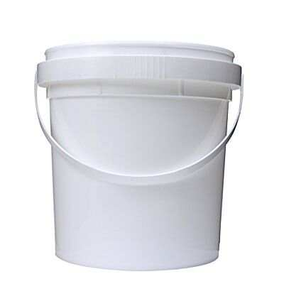 1 Gallon White HDPE Plastic Pail With Handle