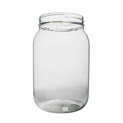 64oz (0.5gallon) Clear PET Wide Mouth Round Plastic Jar - 100-400 Neck