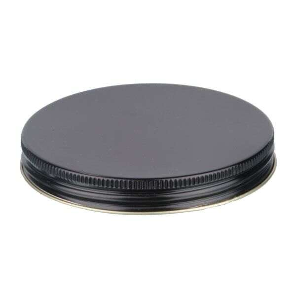 100-400 Black Metal Screw Cap With Customizable Liner Options