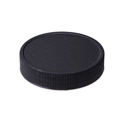 53-400 Black Rib Side Matte Top PP Plastic Continuous Thread (CT) Cap - F217 Liner