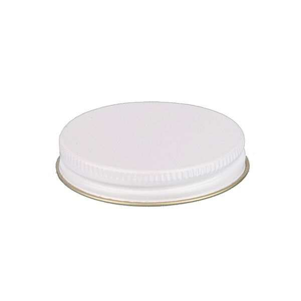 58-400 White Metal Screw Cap With Customizable Liner Options