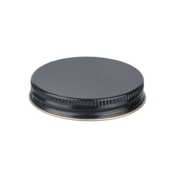 58-400 Black Metal Screw Cap With Plastisol Liner
