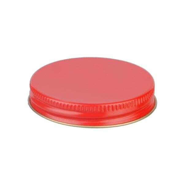58-400 Red Metal Screw Cap With Customizable Liner Options