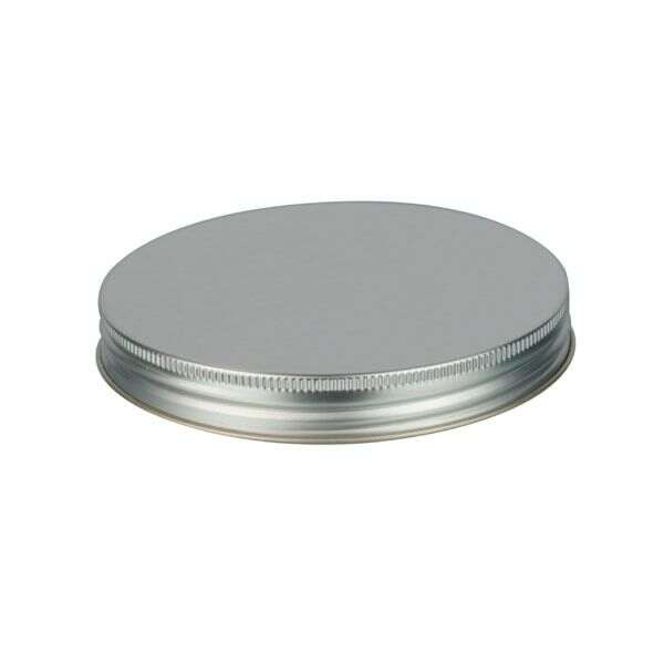 120-400 Silver Metal Screw Cap With Customizable Liner Options