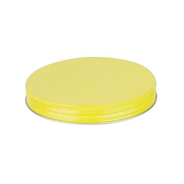 120-400 Yellow Metal Screw Cap With Plastisol Liner