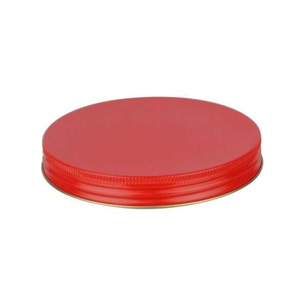 120-400 Red Metal Screw Cap With Customizable Liner Options