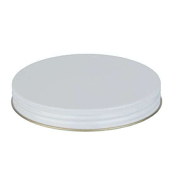 120-400 White Metal Screw Cap With Plastisol Liner
