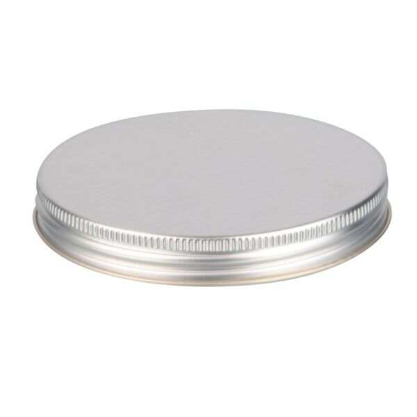 100-400 Silver Metal Screw Cap With Plastisol Liner
