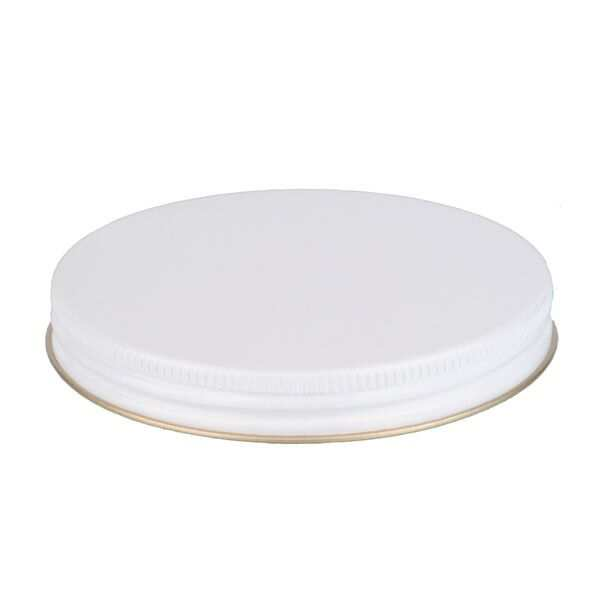 100-400 White Metal Screw Cap With Plastisol Liner