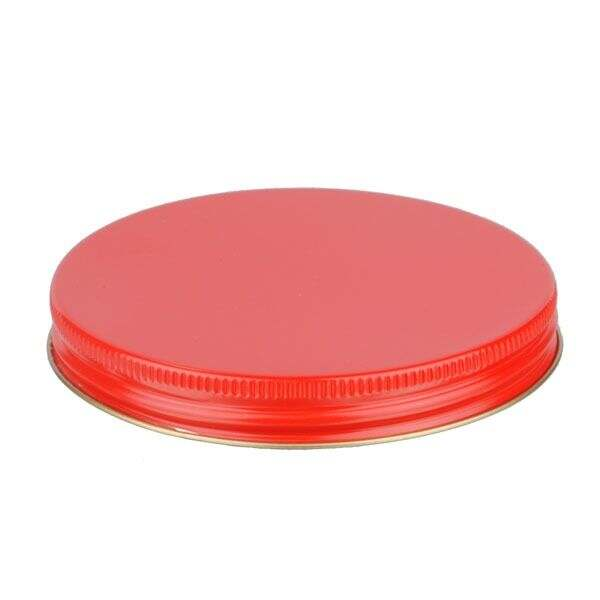 100-400 Red Metal Screw Cap With Plastisol Liner