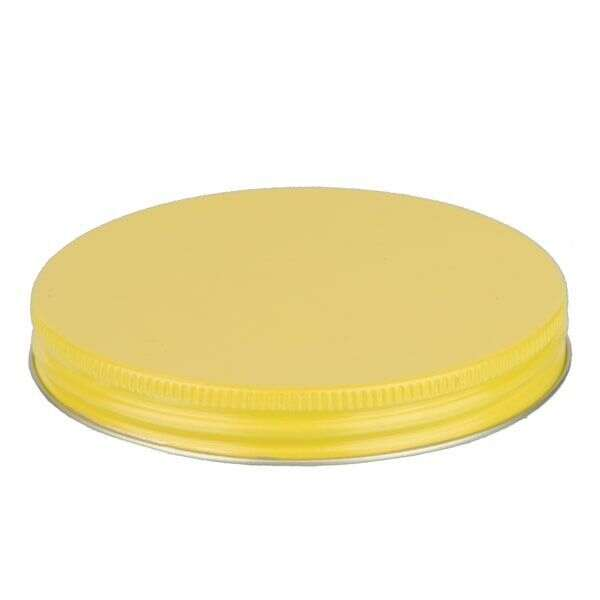 100-400 Yellow Metal Screw Cap With Customizable Liner Options