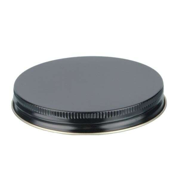 89-400 Black Metal Screw Cap With Plastisol Liner