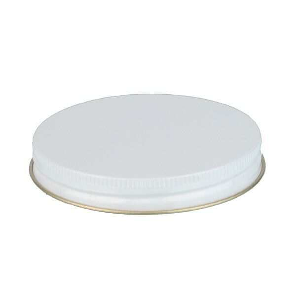 89-400 White Metal Screw Cap With Customizable Liner Options