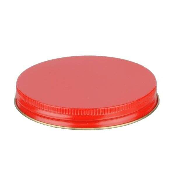 89-400 Red Metal Screw Cap With Plastisol Liner