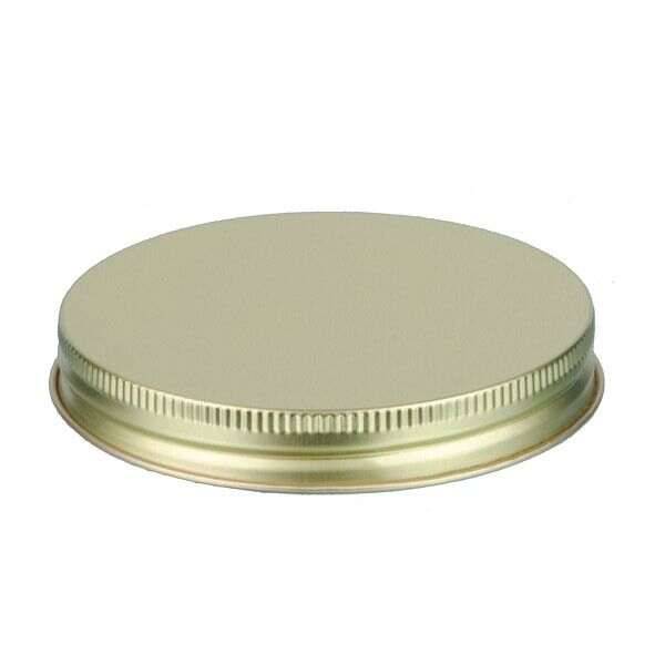 89-400 Gold Metal Screw Cap With Plastisol Liner
