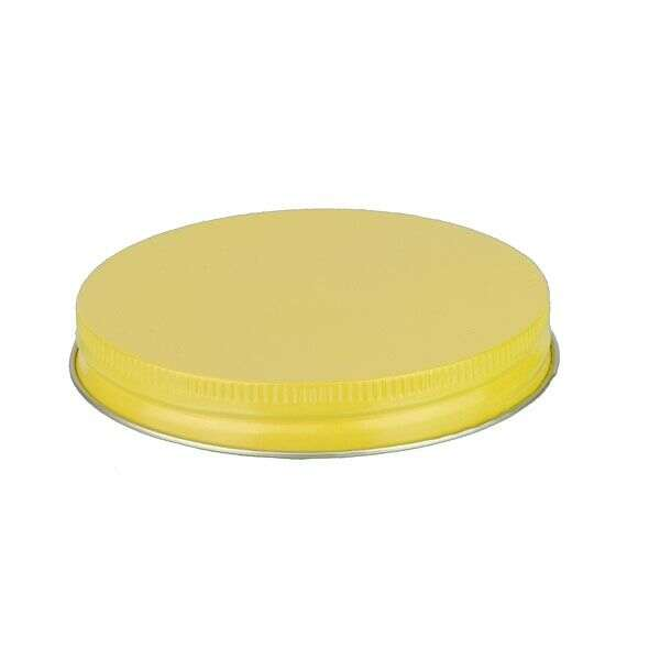 89-400 Yellow Metal Screw Cap With Plastisol Liner