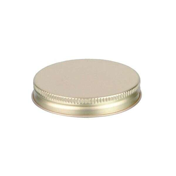 63-400 Gold Metal Screw Cap With Customizable Liner Options