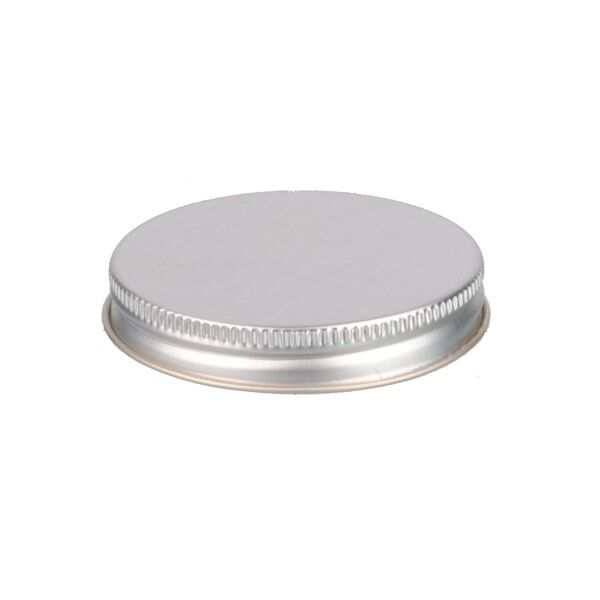 63-400 Silver Metal Screw Cap With Customizable Liner Options