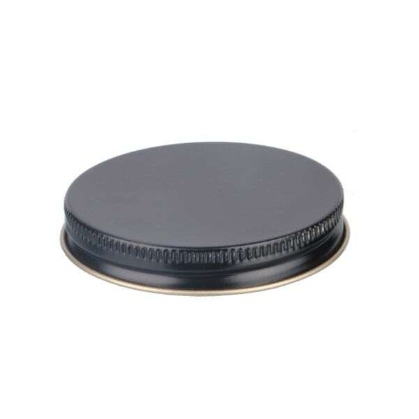 63-400 Black Metal Screw Cap With Plastisol Liner