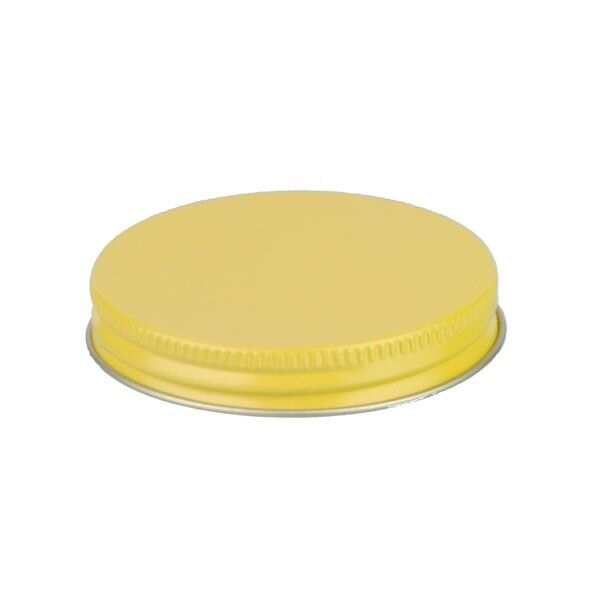 63-400 Yellow Metal Screw Cap With Plastisol Liner