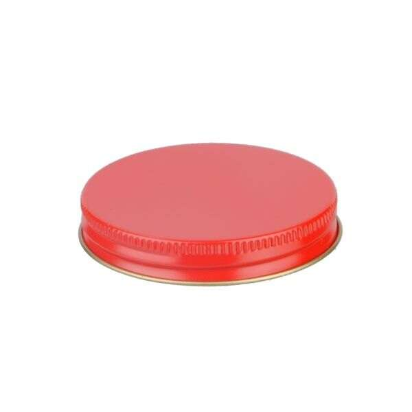 63-400 Red Metal Screw Cap With Customizable Liner Options