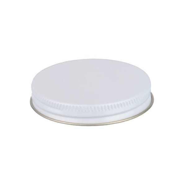63-400 White Metal Screw Cap With Customizable Liner Options